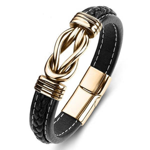Military Support Infinity Bond Leather Bracelet