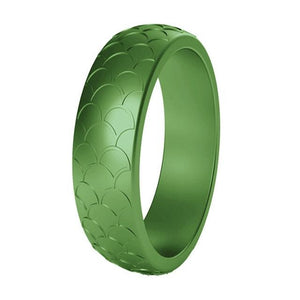 August Peridot Silicone Ring