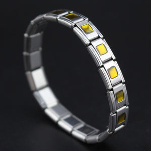 Yellow Geometric Stainless Steel Bracelet