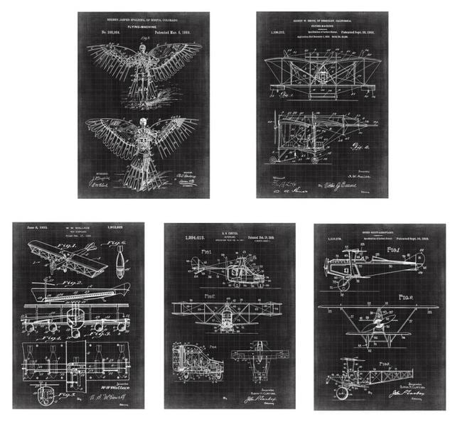 Earlier Plane patent painting (Size: A4)