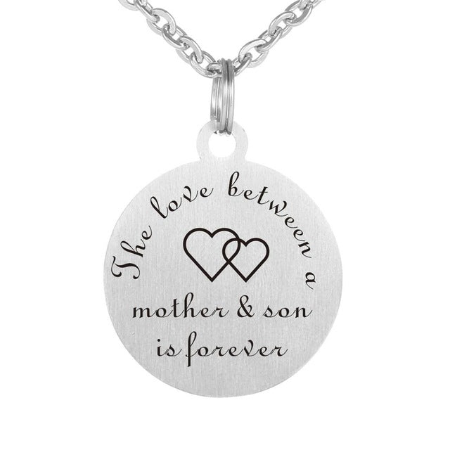 Mother/Son Love Forever Necklace