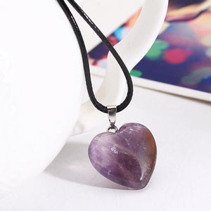 Stone Heart Pancreatic Cancer Awareness Necklace
