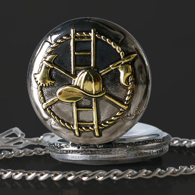 Firefighter Ladder Pocket Watch