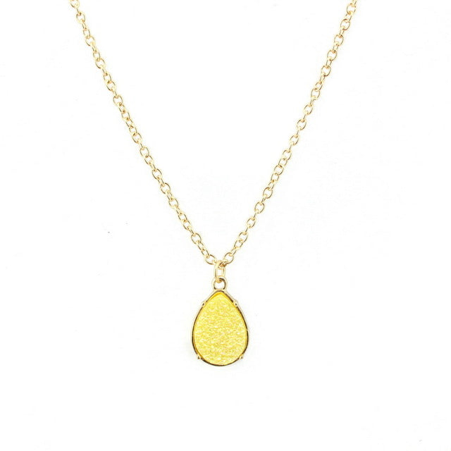 Yellow Carbon Monoxide Awareness Necklace