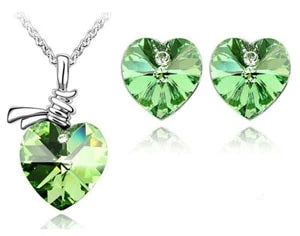 Mental Health Awareness Stone Heart Jewelry Set