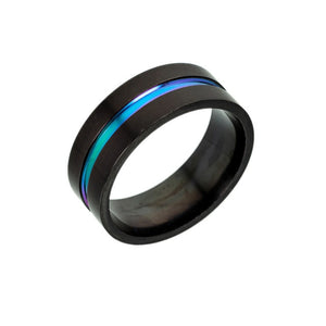 Blue & Purple Thin Line Ring