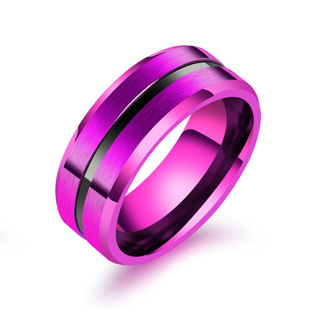 Titanium Pancreatic Cancer Awareness Ring