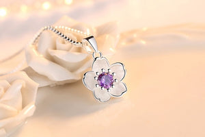 Pancreatic Cancer Awareness Floral Necklace