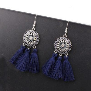 Boho Police Support Tassel Earrings