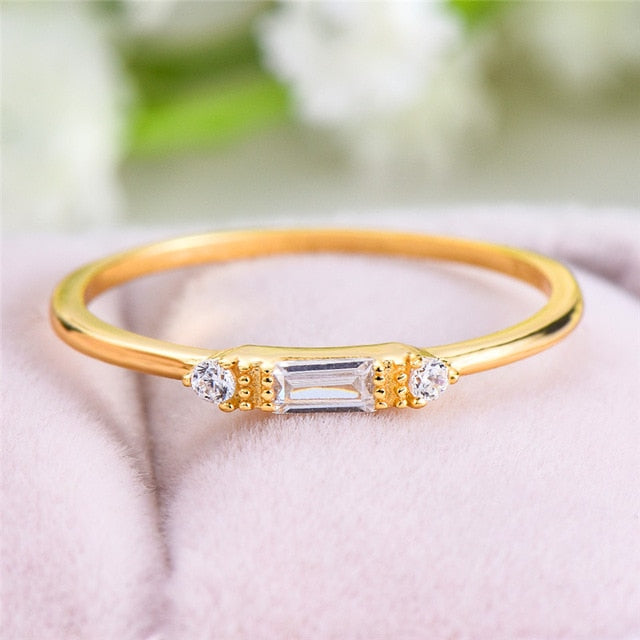EMS Support White Crystal Bar Thin Eternity Ring