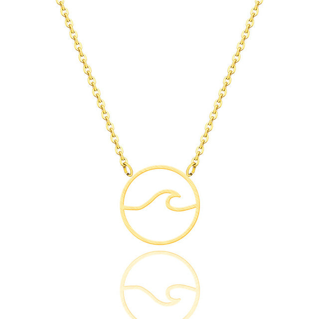 Circle Wave Ocean Necklace
