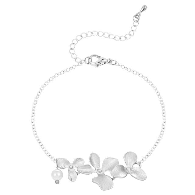 Motherhood Orchid Pearl Bracelet