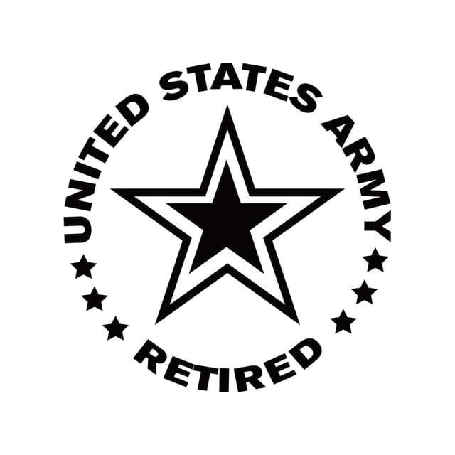 US Army Retired Car Decal
