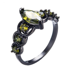 Black Gold Birthstone Ring