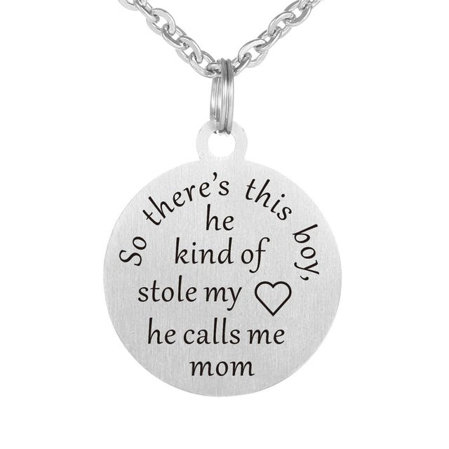 Mother/Son Stolen Heart Necklace