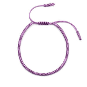 Domestic Violence Awareness Purple Rope Charm Bracelet