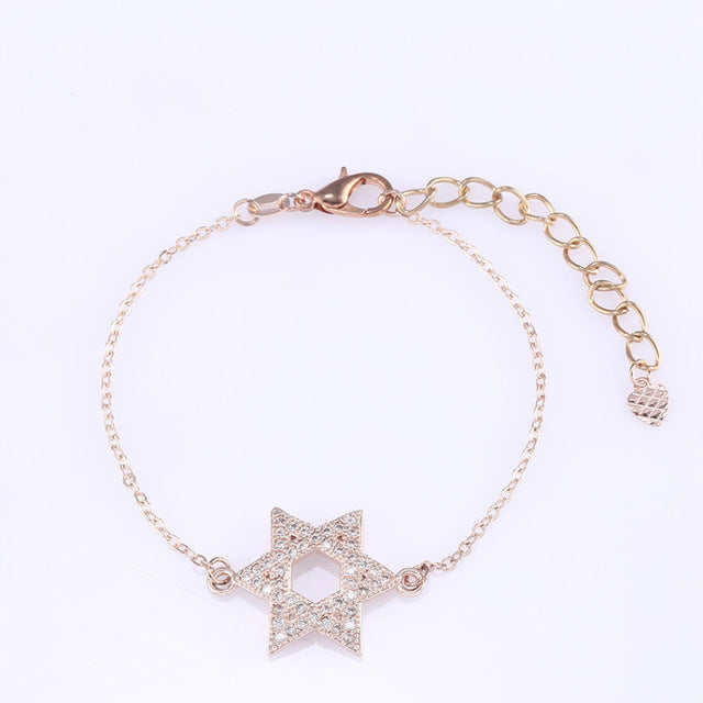 Crystal Hexagram Bracelet
