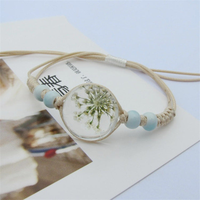 White Cute Flower Bracelet