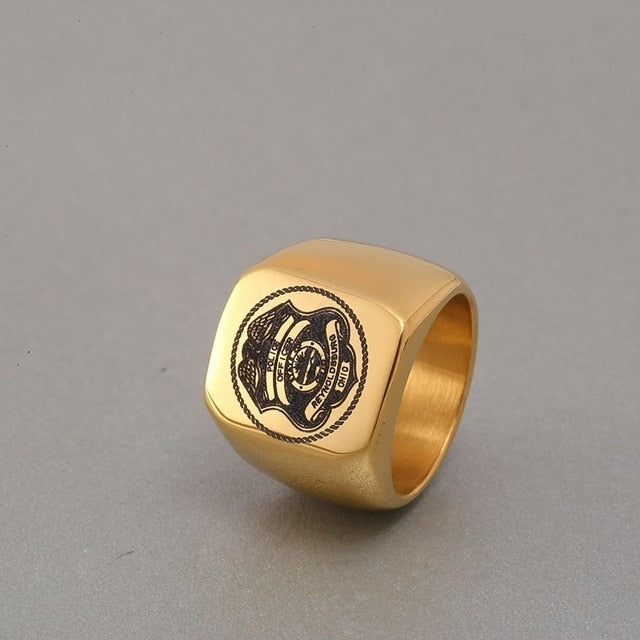 Gold Police Ring