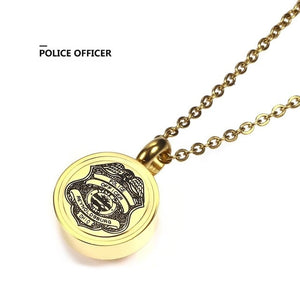 Police Gold Memorial Necklace