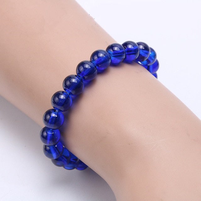 Blue Amethysts Colon Cancer Awareness Bracelet