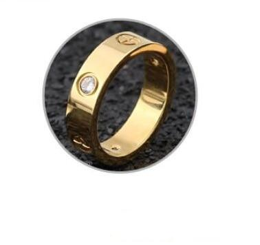 Childhood Cancer Awareness Crystal Gold Stainless Steel Ring