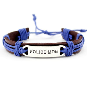 Police Mom/Wife Leather Bracelet