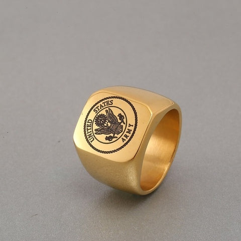 Gold Army Ring