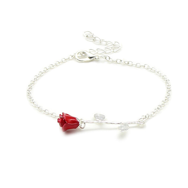 You Are Beautiful Rose Link Bracelet