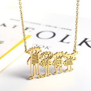 Geometric Dad and Kids Necklace