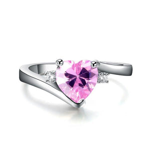 Birthstone Heart Ring
