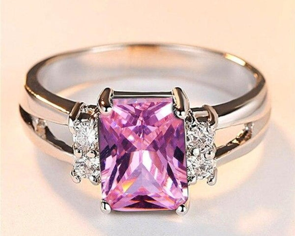 Breast Cancer Awareness Exquisite Stone Ring