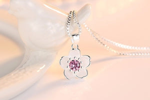 Purple Cherry Blossom Necklace
