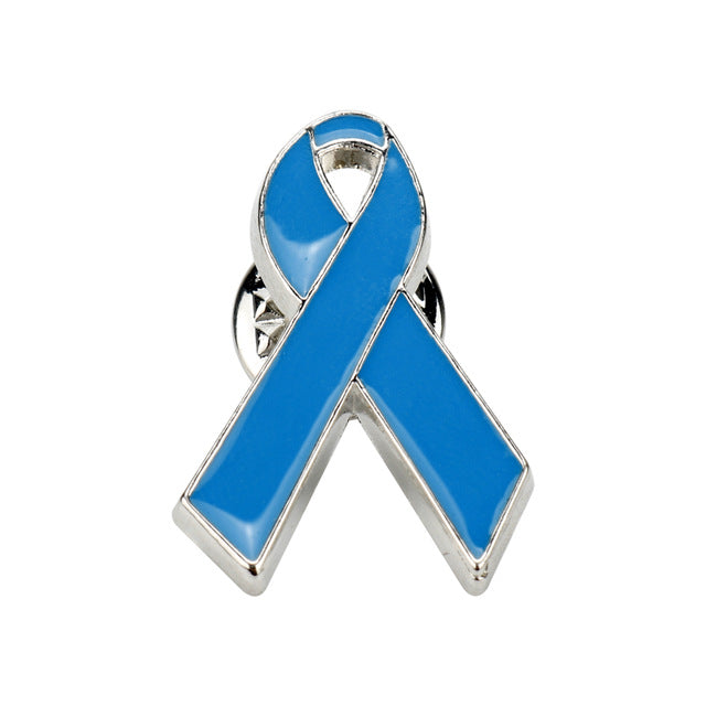 Blue Ribbon Colon Cancer Awareness Brooch