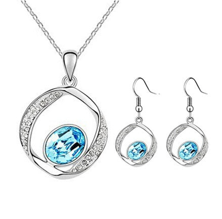 Colon Cancer Awareness Hoop Necklace and Earrings Set