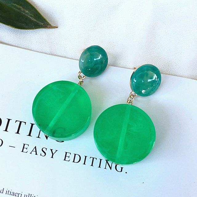 Green Waterdrop Liver Cancer Awareness Earrings