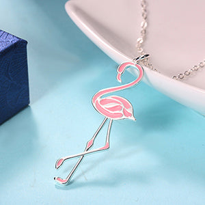 Chic Flamingo Link Necklace