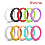 Spiral Silicone Rings 10 pack