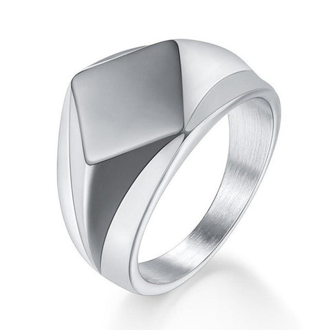 Silver Corrections Officer Support Stainless Steel Ring