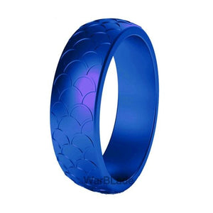 September Sapphire Silicone Ring