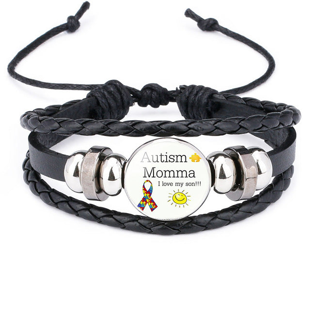 Autism Awareness Proud Mother Bracelet