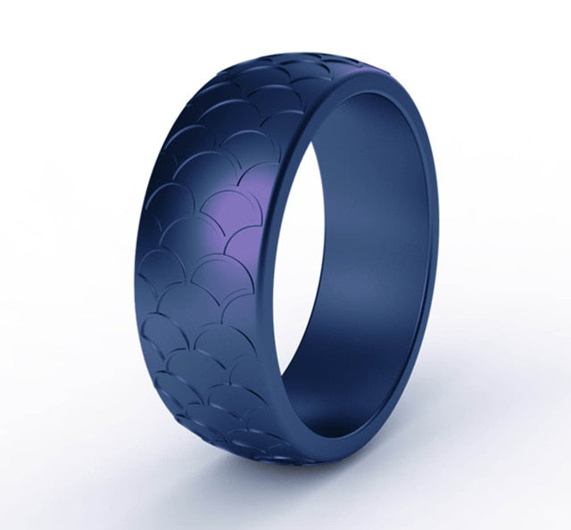 Police Support Scaled Silicone Ring
