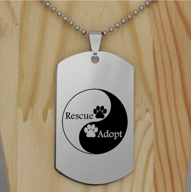 Rescue Adopt Stainless Steel Necklace