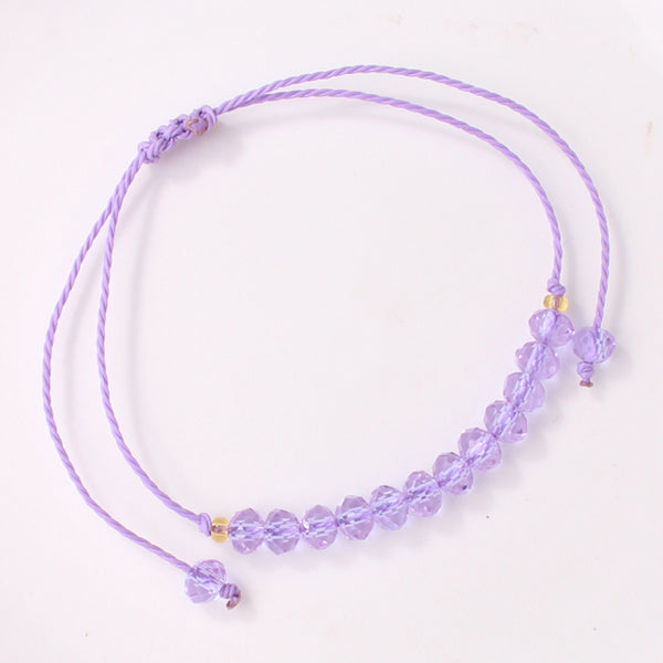 Crystal Macrame Friendship Bracelet