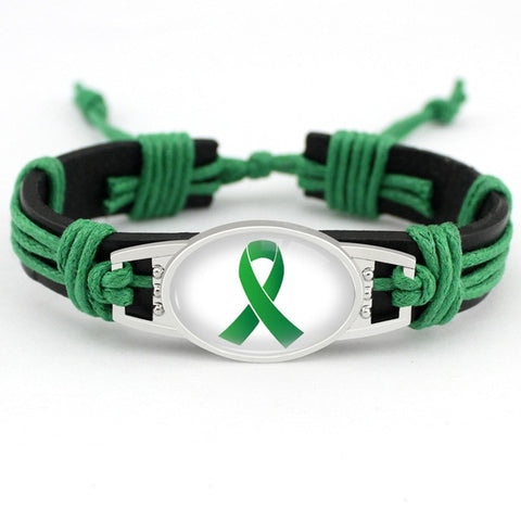 Mental Health Awareness Leather Bracelet