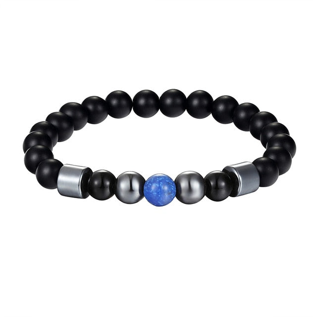 Police Awareness Blue Pearl Bracelet