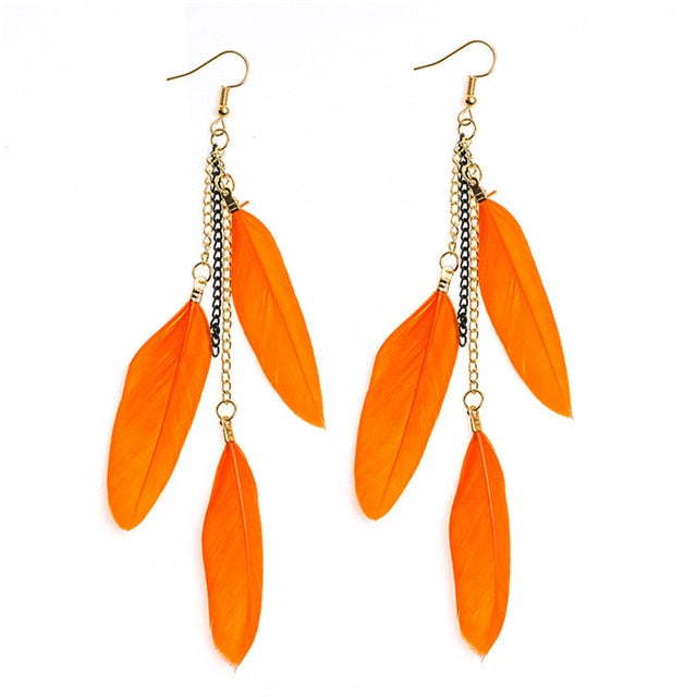 Multiple Sclerosis Awareness Feather Drop Earrings