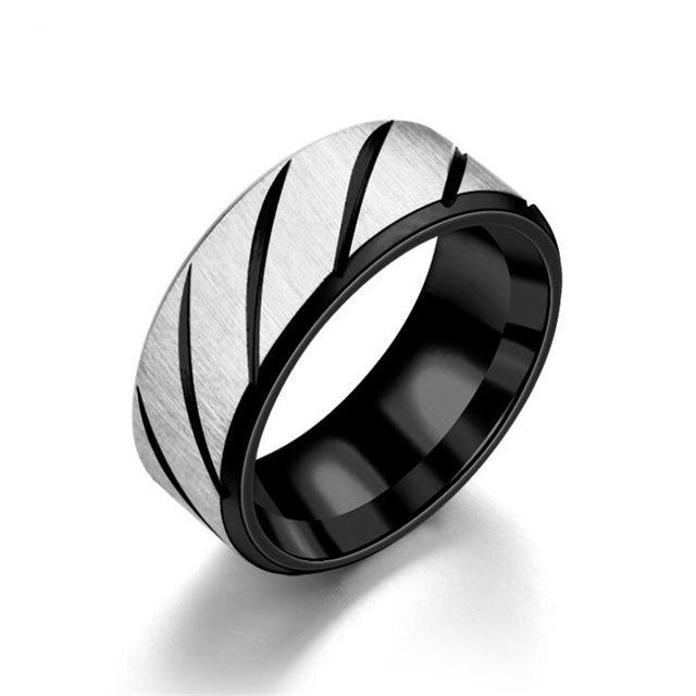 Black Lines Second Amendment Support Ring