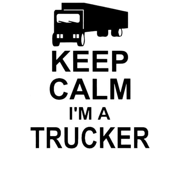 Keep Calm Trucker Car Decal