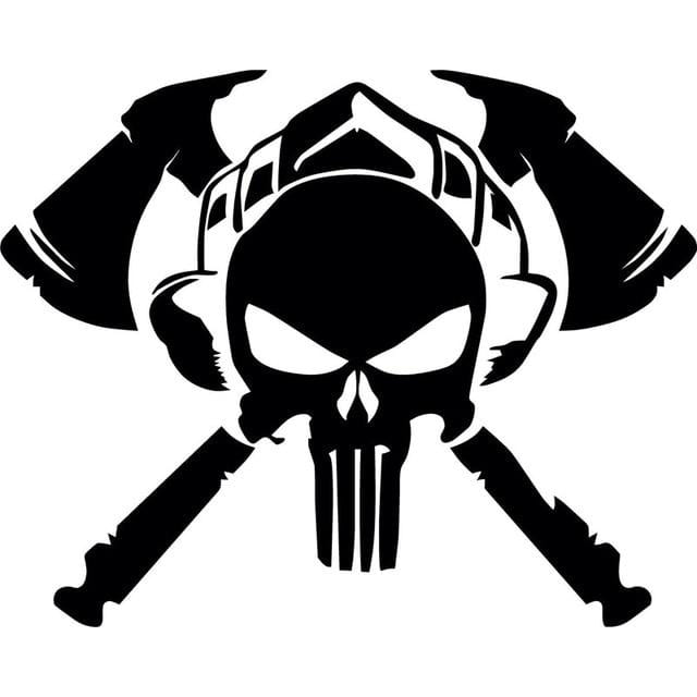 Punisher Firefighter Car Decal